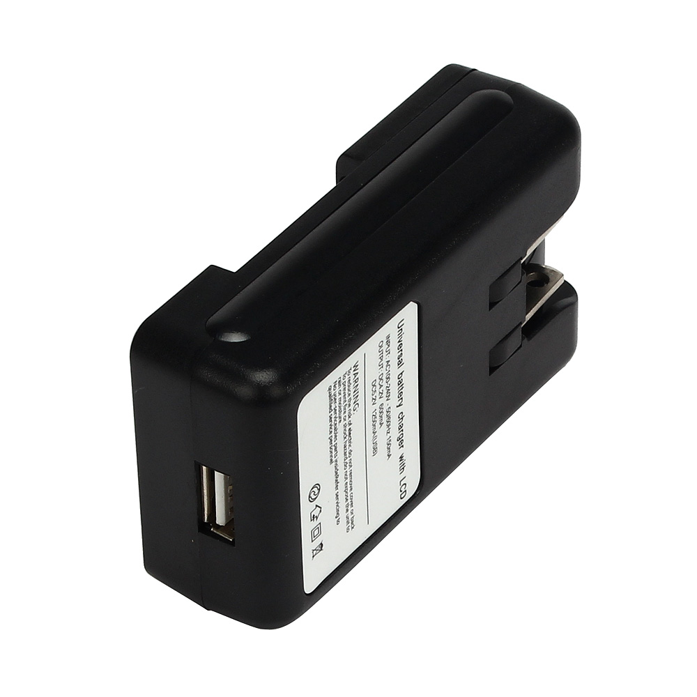 EPULA Universal Fast Battery Charger LCD Indicator Screen For Cell Phones  USB-Port US Plug