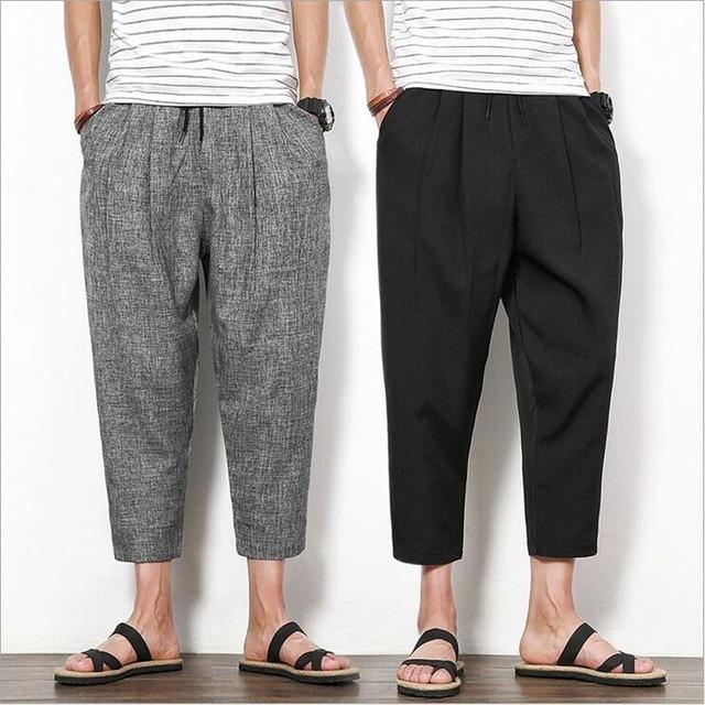 Nueva Llegada de la Ropa Pantalones de Los Hombres Pantalones Harem Flojos Moda Para Hombre Hip Hop Pantalones Hombre Tobillo-Longitud de Las Bragas Ocasionales Respirables pantalón 2016