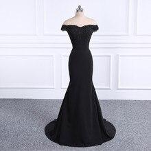 2019 Prom Dresses Robe De Soiree black Dress Real Photo Sweetheart Mermaid Long Vestido Festa