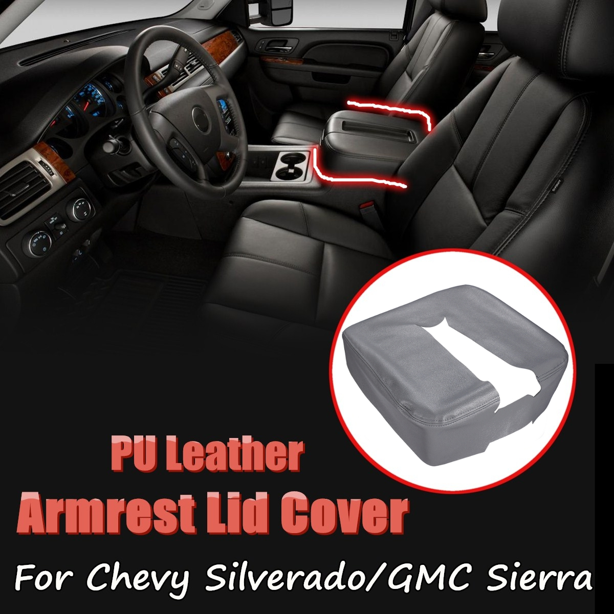 Back To Search Resultsautomobiles & Motorcycles Interior Parts Enthusiastic Pu Leather Car Center Console Lid Armres Cover Protective Case For Chevy Silverado 1500 2500 3500 Lt Ltz 2007-2014 An Enriches And Nutrient For The Liver And Kidney