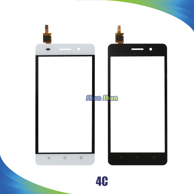 10pcs 4C Touch Screen for Huawei Honor 4C Touch Screen Digitizer Sensor Front Glass Lens Panel White Gold Black Phone Parts