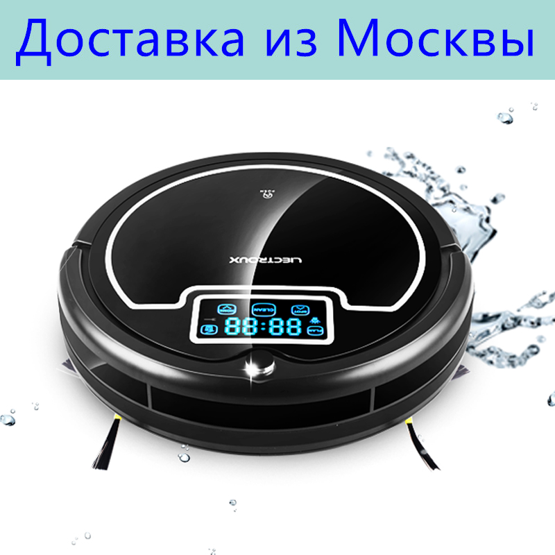 (Free All)LIECTROUX B2005 PLUS High Efficient Robot Vacuum Cleaner wash Home, Water Tank,LCD,UV,Wet&Dry,Schedule,Virtual Blocker all wet cd