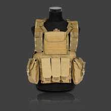 2017 Men's Clothing Casual Camouflage CF Regular Field Activities Vest Men Strong With Multi-pockets Vest  Four Colors One Size