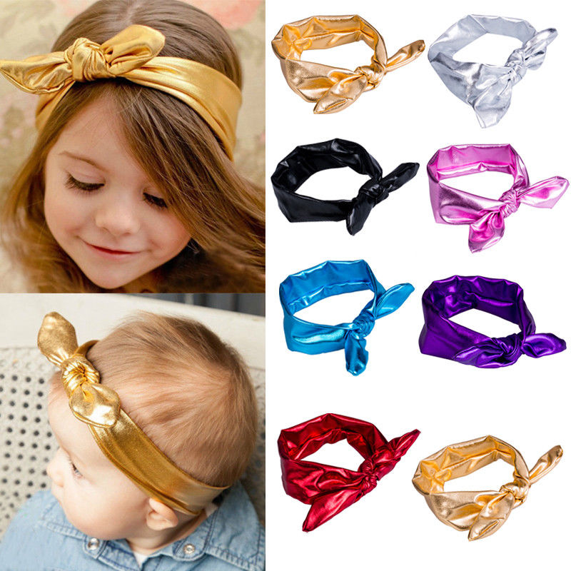 Sweet Baby Girl Headbands Bow For Girl Rabbit Ear Hairbands Bow-knot Head Wear Newborn Baby Headdress Child Hairband Accessories