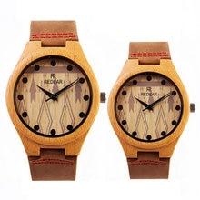 2017 new luxury brand men ladies couple watches simple fashion creative geometric patterns wooden quartz watch
