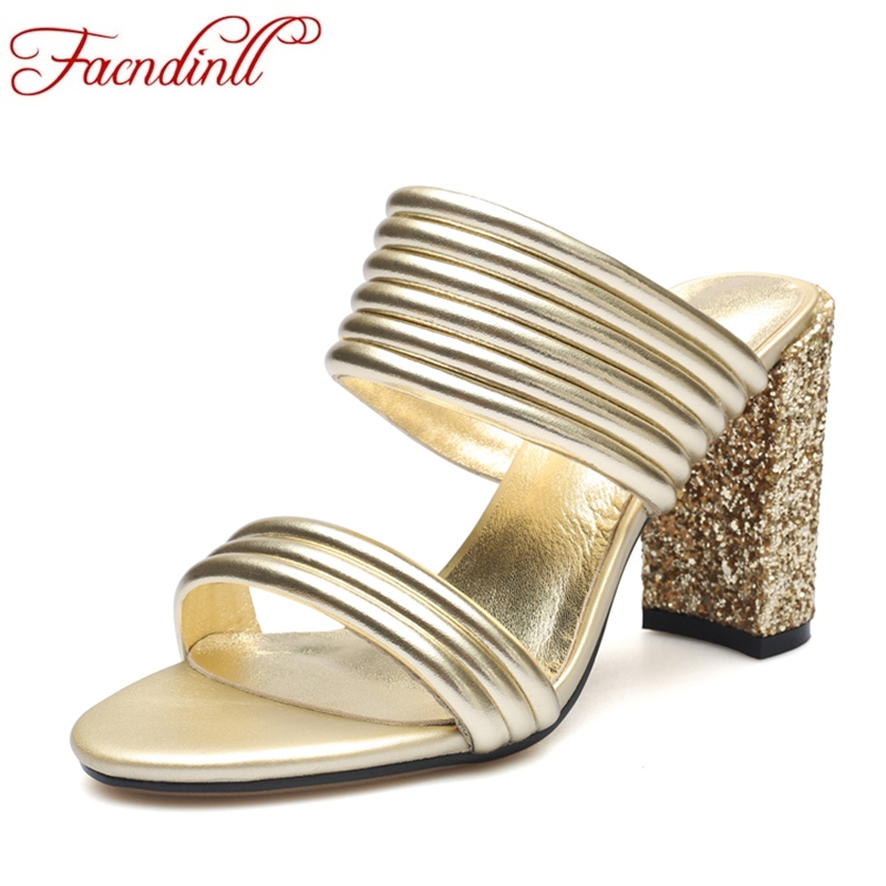 FACNDINLL gladiator sandals women suumer shoes new sexy high heels open toe shoes woman gold silver dress party wedding shoes phyanic 2017 gladiator sandals gold silver shoes woman summer platform wedges glitters creepers casual women shoes phy3323