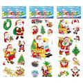 6 hoja / juego navidad de Santa muñeco de nieve del árbol pegatinas para niños decoración del hogar portátil 3D de la etiqueta engomada frigorífico skateboard doodle de juguete