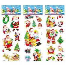 6 sheets set Christmas Santa Snowman Tree stickers for kids Home decor on laptop 3D sticker