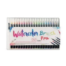 20 Colors/lot Set Professional Watercolor Painting Soft Brush Pen Set Markers Pen Artist Supplies Manga Comic Calligraphy