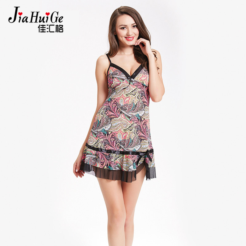 JiaHuiGe Nightdress for Women Sex Woman Sleeveless Sleepshirt Cotton Sleepwear Sexy Dresses Summer Lace   Nightgowns     Sleepshirts