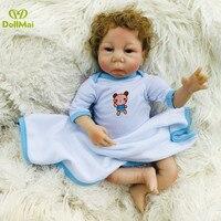 Real baby dolls toys 19 45cm soft silicone reborn baby doll lifelike newborn babies boy girl dolls bebe gift reborn