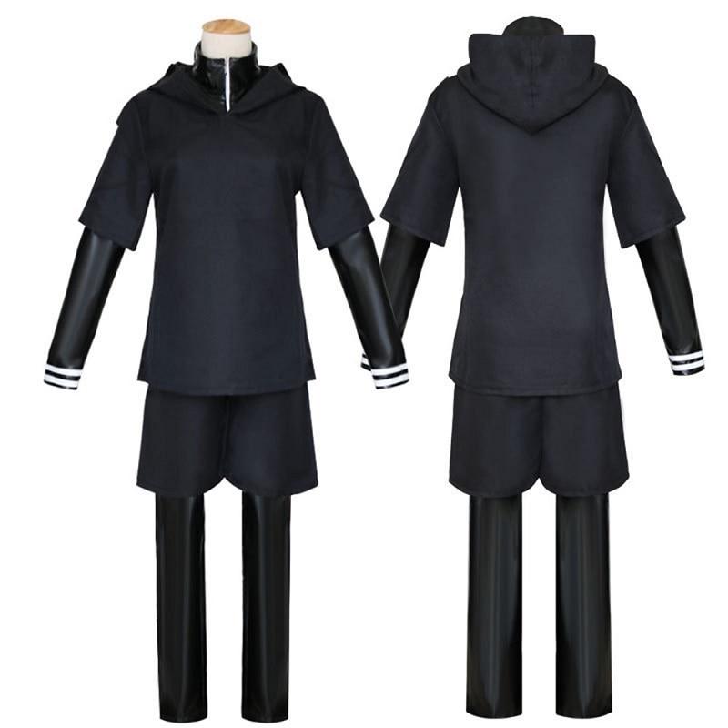 Japanese Anime Tokyo Ghoul Cosplay Kaneki Ken Cosplay Costume Hoodie Jacket Pants Shorts Full Set Outfits Men Uniforms Masks