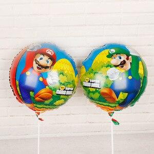 50 шт Супер Марио воздушный шар Двусторонняя детская игрушка день рождения 18 дюймов Алюминиевая Пленка воздушный шар детский день подарок Д...