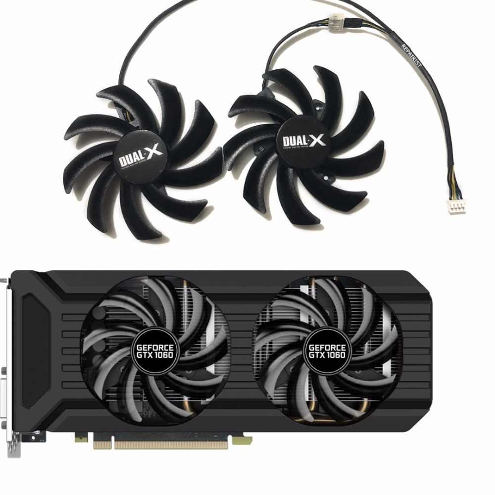 2 قطعة/المجموعة 87 مللي متر (90 مللي متر) GA91S2U GPU بطاقة VGA برودة مروحة ل Palit غيفورسي GTX 1080 1070Ti 1070 1060 المزدوج بطاقات الفيديو كبديل