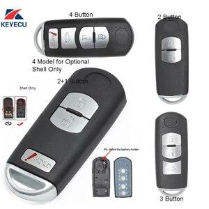Keyecu substituição remoto carro chave caso escudo fob para mazda 3 5 6 CX-5 CX-7 CX-9 rx8 miata mx5 (escudo apenas)