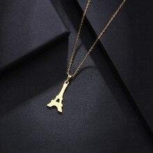 DOTIFI ожерелье из нержавеющей стали для мужчин и женщин, ожерелье с подвеской в виде башни золотистого и серебристого цвета, ювелирные изделия для помолвки