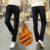 Envío Libre 2016 de invierno Grande Más El Tamaño de Invierno Más El Terciopelo Engrosamiento Masculinos Flojos Pantalones Vaqueros de Cintura Alta Pantalones casuales de Negocios