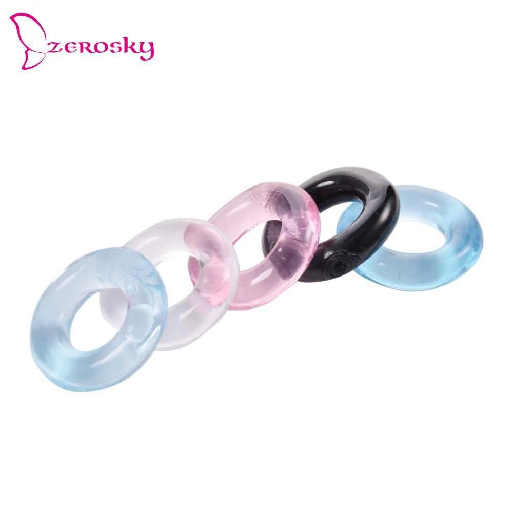 페니스 링 수탉 반지 2PCS 실리콘 재사용 가능한 슬리브 확장 콘돔 섹스 지연 성인 완구 에로틱 장난감 딕 콘돔 남성용