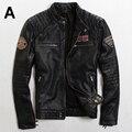 2015 Новый Сделать старый Тонкий Британской моды мужская Одежда Тенденция Мульти-Стандартные Мужчины мотоцикл куртки Мужчины женские кожаные куртки