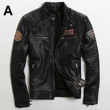 2015 The New Do the old Slim British fashion Men's Wear Trend Multi-Standard Men motorcycle jacket Men's leather jackets
