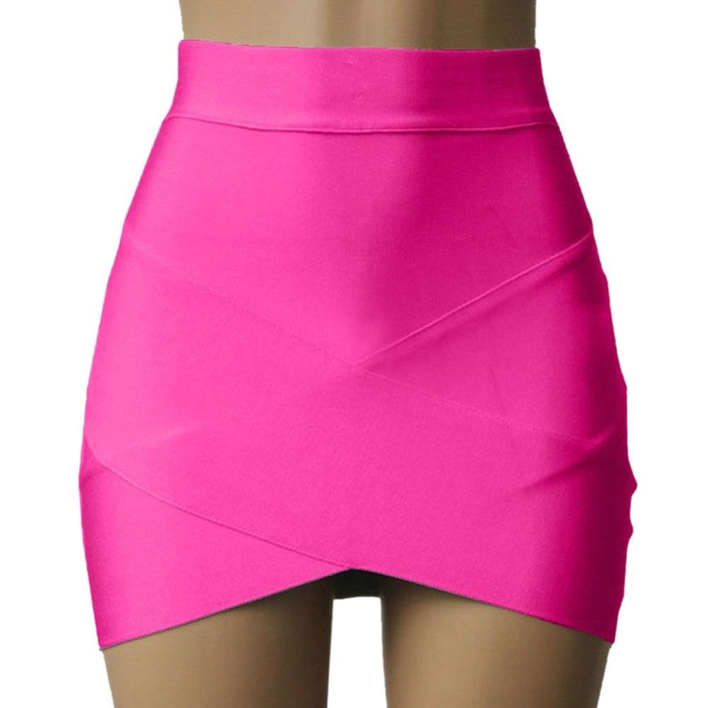 Sexy Bandage Rayon Good Elastic Women Mini Skirt Wiggle Slim Pencil Clubwear Suitable Casual Formal Clothing V2 A7