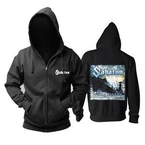 Image 5 - Bloodhoof Sabaton heavy metal czarny power metalowy zamek błyskawiczny z kapturem w rozmiarze azjatyckim