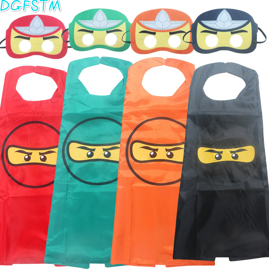 ninjago Super hero man spiderman batman capes with masks for kids birthday party supplies - party favor clothing set for 2-10Y 1cape 1mask cloak kids superhero capes boy children superman batman spiderman halloween baby costume cosplay super hero mask