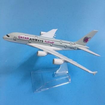 JASON TUTU 16cm QATAR Airways Airbus A380 Plane Model Airplane Model Aircraft Model 1:400 Diecast Metal Airplanes Plane Toy цена 2017