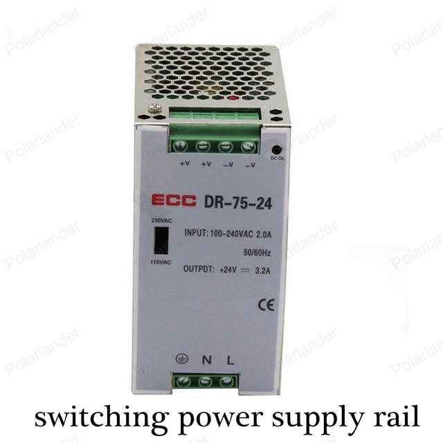 Para AC/DC 24 V 3.1A de doble salida de conmutación de alimentación carril Conductor Regulado Voltaje Transformador para la Tira LLEVADA luz de la Pantalla