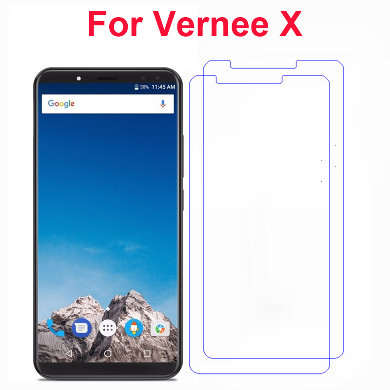 2PCS For Vernee X Tempered Glass Cover 9H 2.5D Ultra-Thin Front Phone Films Screen Protector For Vernee X Case Mobile Phone Film