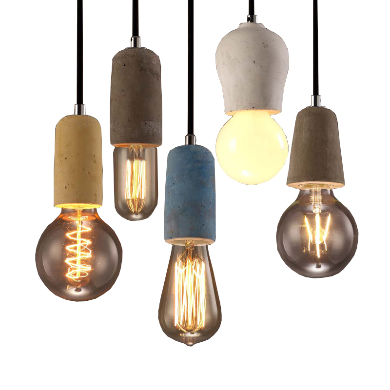 Loft designer art LED chandelier simple retro creative personality retro industrial restaurant bar cafe E27 cement Lamp holder retro cafe bar long spider lamp loft light industrial creative office the heavenly maids scatter blossoms chandelier