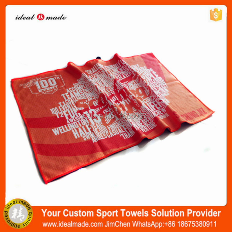 38x61cm Golf Club Towel with Personalized Logo Sublimation Printing by Idealmde Factory ...