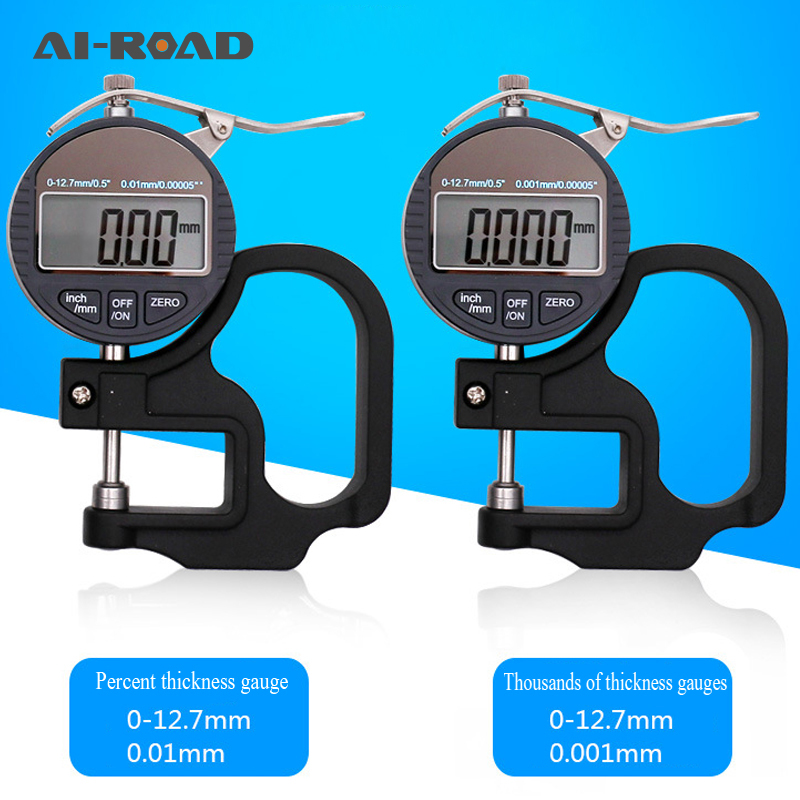 Thickness Gauge 0-12.7mm Digital Display / Thousand Points Thickness Gauge / Instrument / Meter For Paper Film Cloth TapeThickness Gauge 0-12.7mm Digital Display / Thousand Points Thickness Gauge / Instrument / Meter For Paper Film Cloth Tape