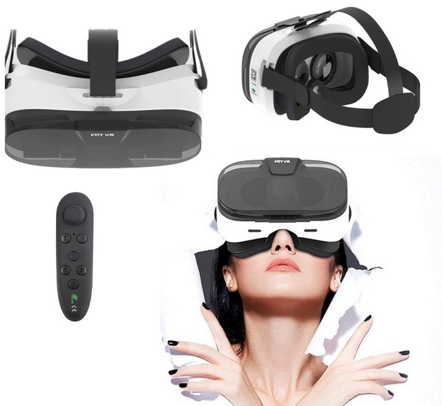 2f054fe7e87 Fiit 2N VR Cover Virtual Reality Goggles Headset Visor 3D Eyes Spectacles  Virtual Glasses VR Headset for Phones Adult kids Gifts