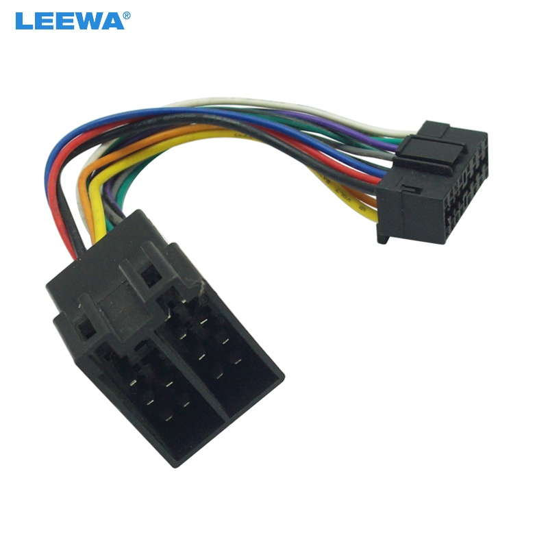Leewa 10pcs Car Stereo Radio Wire Harness Adapter For Sony 16 Pin Connector Into Radio To Iso