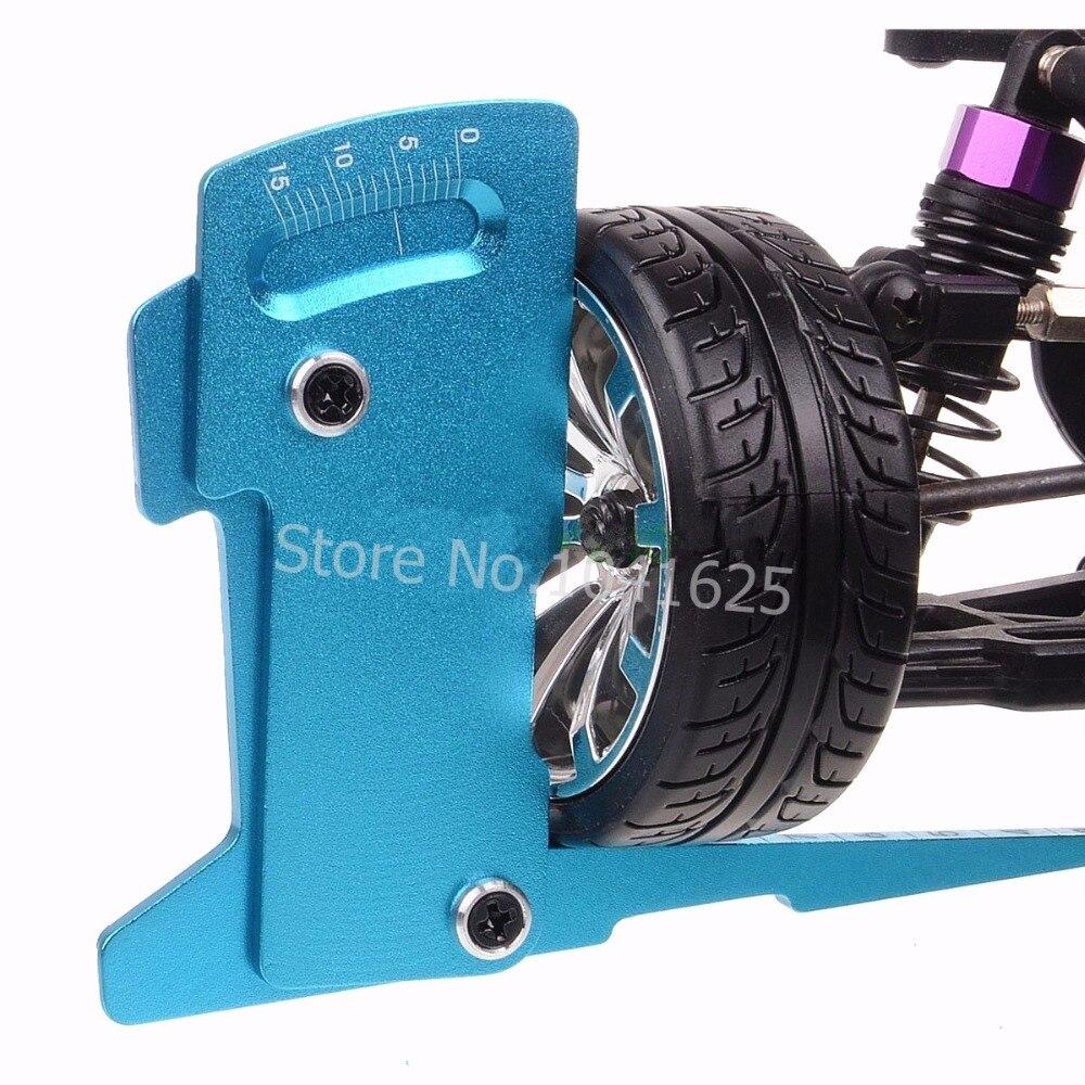 CNC Adjustable Ruler Adjusting RC car height & wheel Rim camber 15 degrees Hobby Tools adjustable ruler measure rc car height