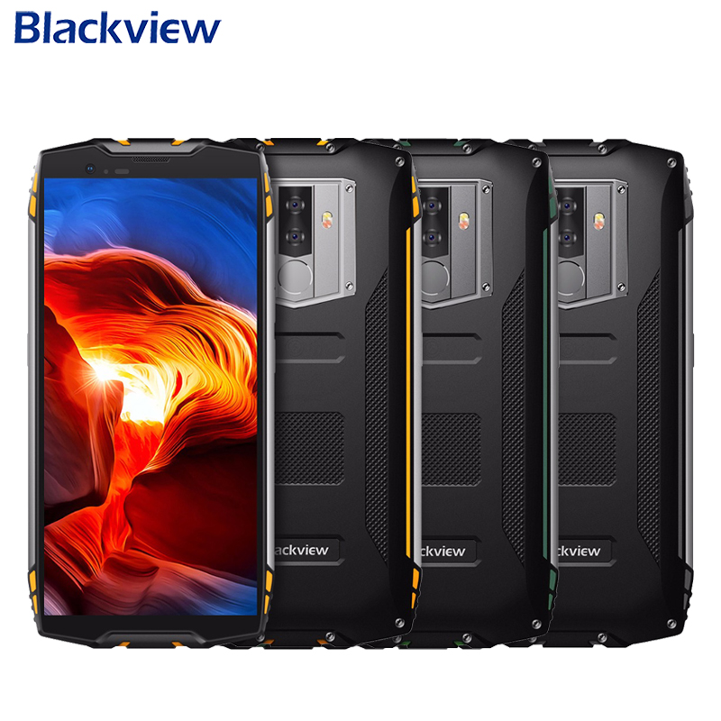 Blackview BV6800 Pro IP68 Waterproof Mobile Phone 5.7 inch 4GB+64GB MT6750T Octa Core Android 8.0 16.0MP 6580mAh NFC Smartphone