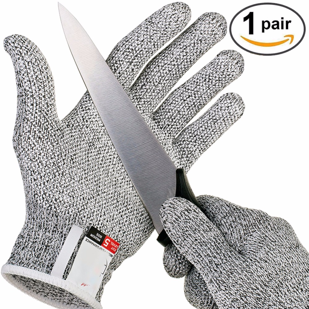 Hunting Gloves 5 Food Grade Cut-proof Gloves Outdoor Camping Protective Tools (random Color Random) Outdoor