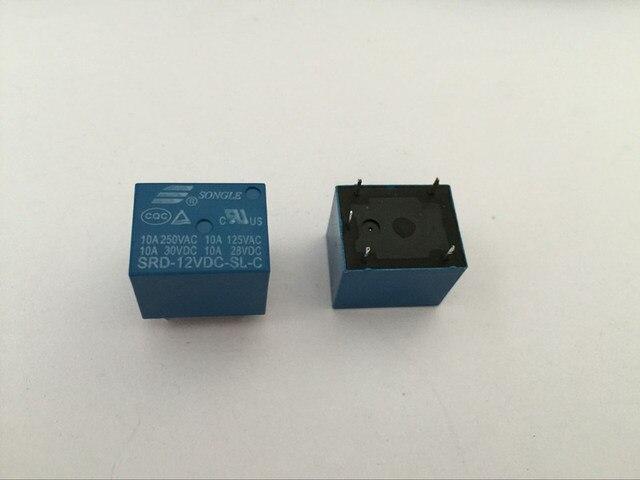 50 шт. реле SRD 12VDC SL C 12 В 10A 5P T73 реле питания One on one off