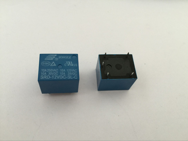 50PCS Relay SRD-12VDC-SL-C 12V 10A 5P T73 Power relay One on one off