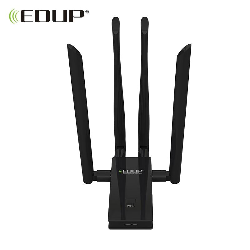 EDUP 5 ghz usb wi-fi adaptateur 1900 mbps 802.11ac longue distance wifi récepteur 4 * 6dBi antennes Double Bande USB 3.0 Ethernet Adaptateur