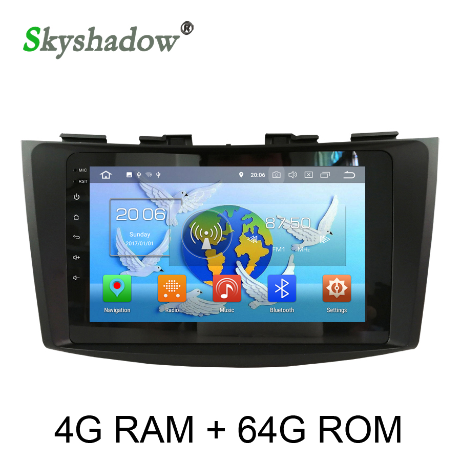 IPS TDA7851 Android 8.0 Car video Player 8 Core 64GB ROM GPS Glonass Map RDS Radio wifi Bluetooth 4.0 For SUZUKI SWIFT 2011-2015