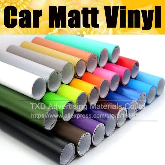 Матовая виниловая пленка для автомобиля, матовая виниловая Автомобильная наклейка 13 цветов на выбор, черная, красная, серебристая, розовая матовая виниловая пленка, бесплатная доставка