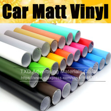 Matt Vinyl Film car wrap Matte vinyl car sticker 13 colors for choice Black red silver pink matt vinyl film By FREE SHIPPING