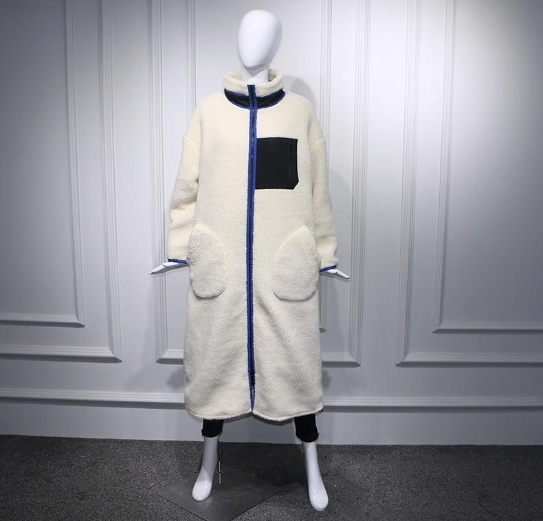 Fausse Manteau Pour En Blanc Chaude Côté X Long Vente Fourrure Faux xBFZx