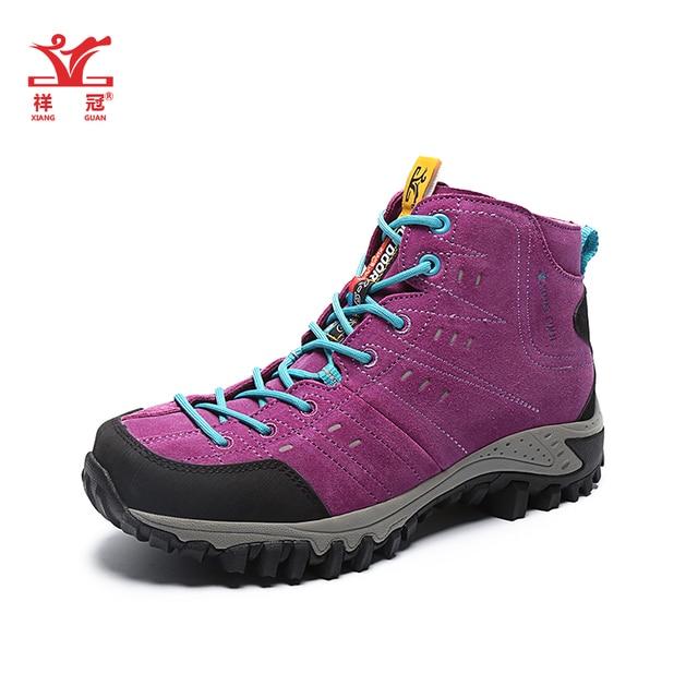 Nuovo xiangguan womens leather outdoor escursioni trekking stivali scarpe  da donna sport arrampicata scarponi da montagna 2223f1f42ed
