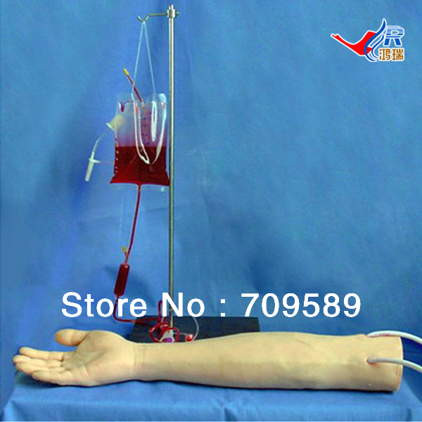 ISO Full-functional IV Training Arm, IV InjectionTraining Model economic injectable training arm model with infusion stand iv arm injection teaching model