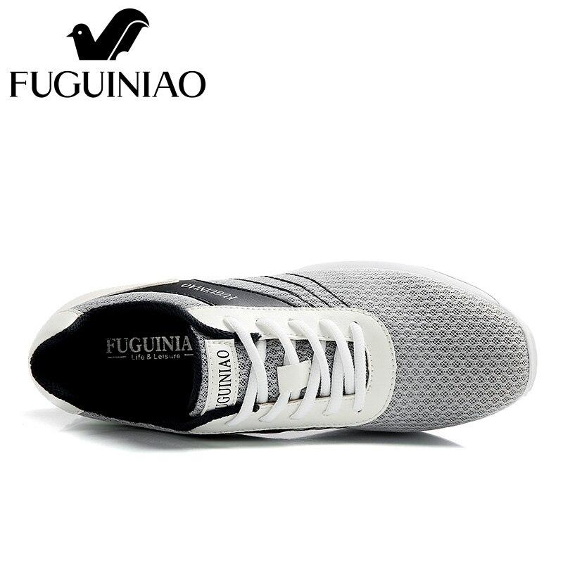 ฤดูร้อนระบายอากาศรองเท้าลำลอง!จัดส่งฟรี! FUGUINIAOที่มีคุณภาพสูงตาข่ายผู้ชายแสงแบนรองเท้า/สีสีขาว,สีดำ-ใน รองเท้าลำลองของผู้ชาย จาก รองเท้า บน   2