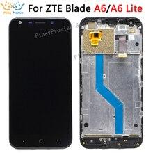 Tela de reposição para zte blade a6/a6 lite, display de lcd e touch screen, com moldura + ferramentas zte blade a0620 a0622