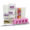 New Acrylic  Uv Gel Nail Kit Powder Liquid Brush Dish Kit Set for Nail Art Design False French Tips Manicure Set 34212